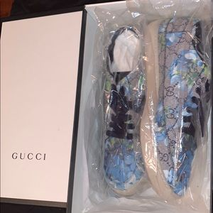 Gucci Blue Bloom Sneakers (Low Top)
